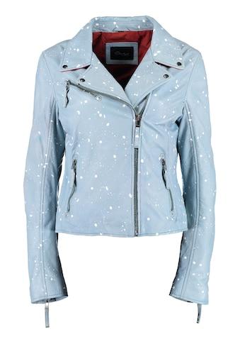 DNR Jackets Damen Lederjacke mit Allover-Muster kaufen