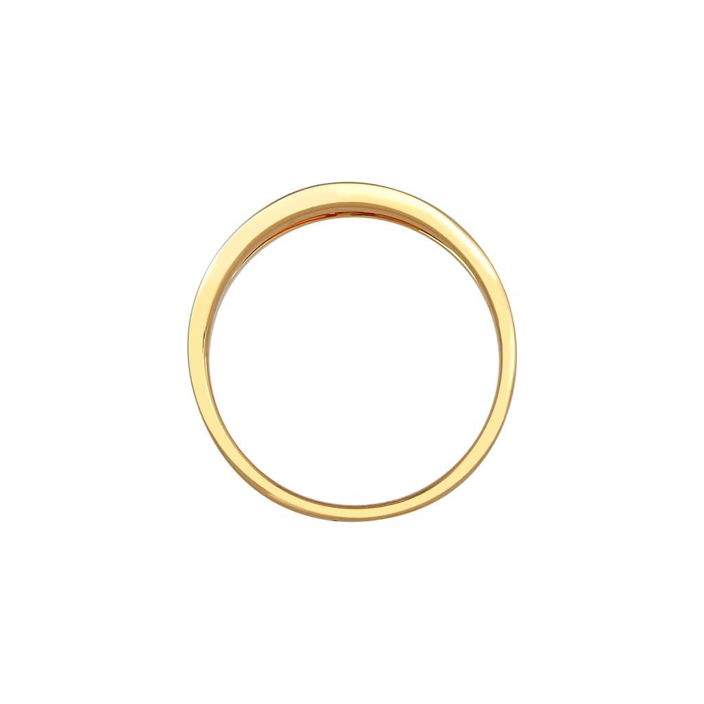 Diamore Verlobungsring »Verlobung Wellen Diamant (0.06 ct.) 585 Gelbgold«