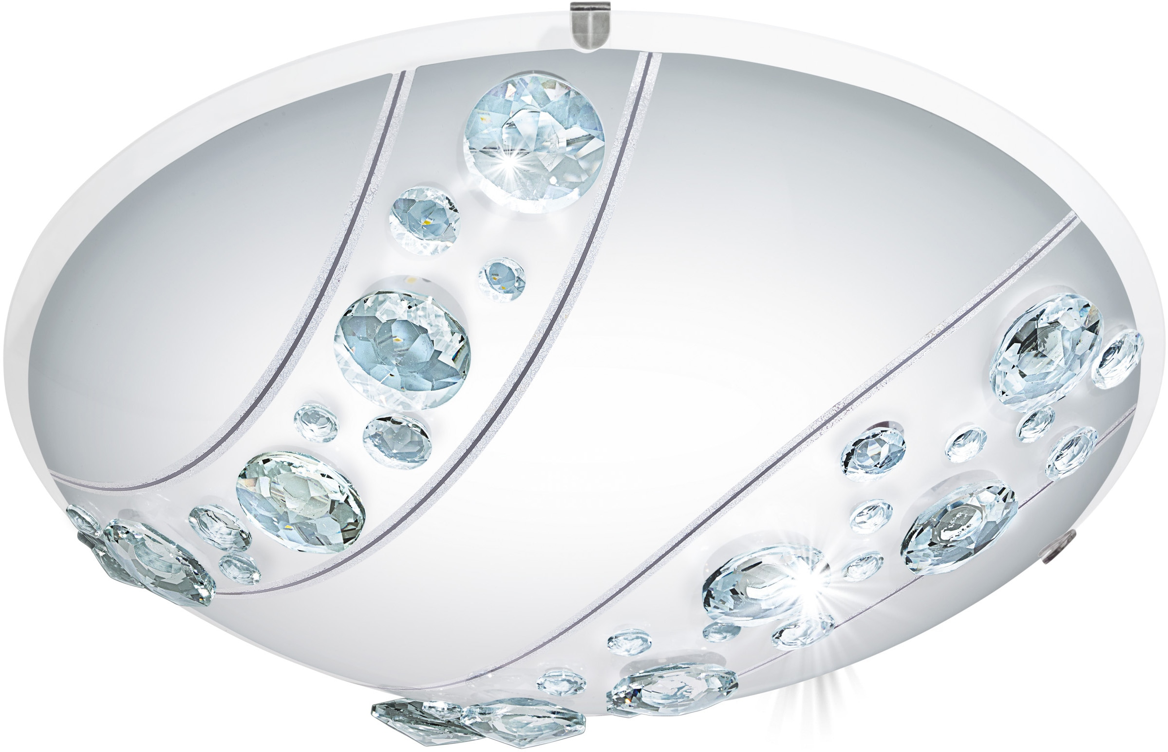 EGLO LED Deckenleuchte NERINI, LED-Board, Warmweiß, LED tauschbar