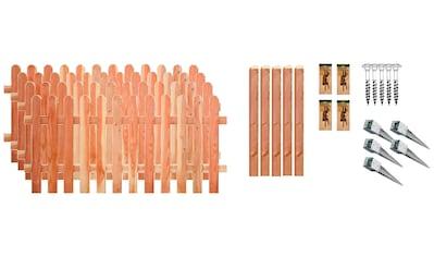 T&J Staketenzaun »Austin 2«, 4 Elemente, LxH: 765x80 cm kaufen