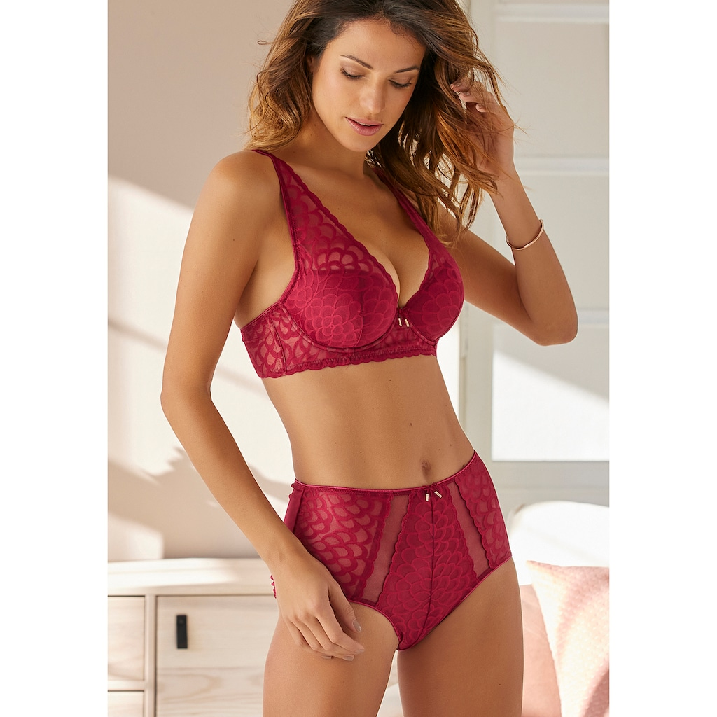 LASCANA Taillenslip »Camilla«, aus leicht transparenter Jacquardspitze