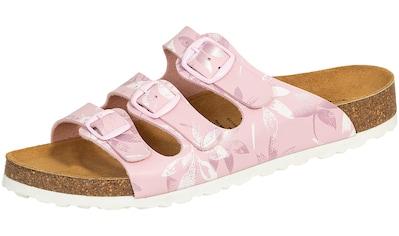 Pantolette »560239 Lico Pantolette Bioline rosa«, Lico Pantolette Bioline Leave rosa kaufen