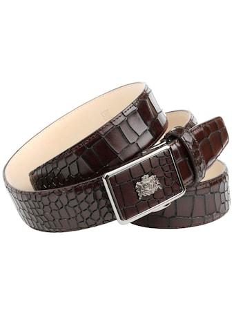 Anthoni Crown Ledergürtel, Edler Herrengürtel im Kroko-Look kaufen