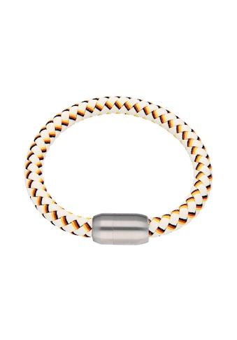 Jacques Charrel Armband »weiß, geflochten, in Deutschland - Optik mit Magnetverschluß« kaufen