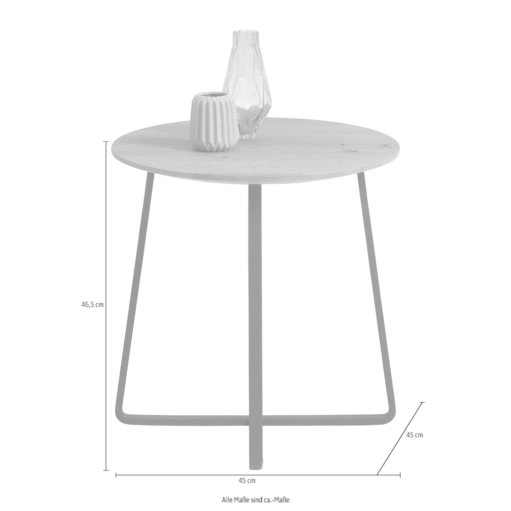 SCHÖNER WOHNEN-Kollektion Couchtisch »YORIS«, mit Metallgestell, Durchmesser 45 cm