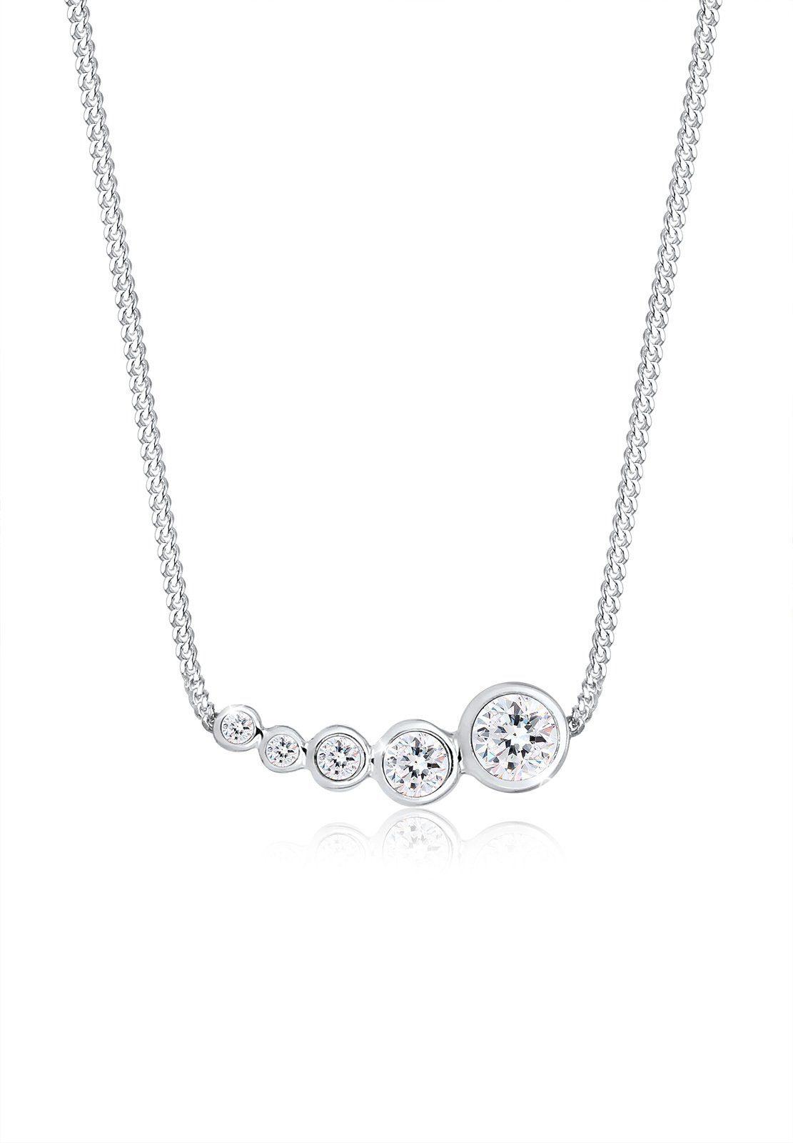 Elli Collierkettchen Geo Kreis Trend Swarovski Kristalle 925 Silber