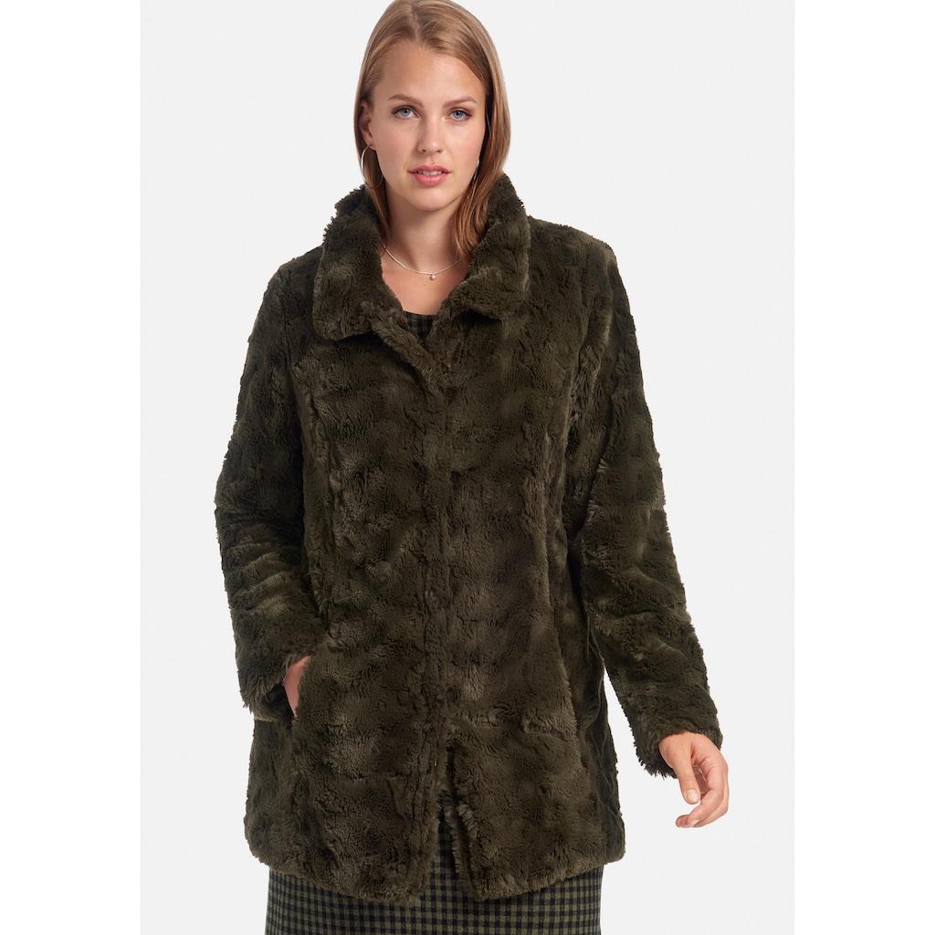 Anna Aura Outdoorjacke »Webpelz-Jacke«, mit Eingrifftaschen