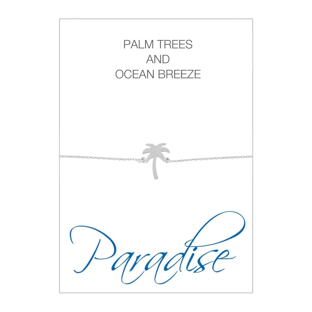 HERZ-KARTE Armband »Paradise«, Armband mit Palmen-Einhänger, 925/- Sterlingsilber rhodiniert