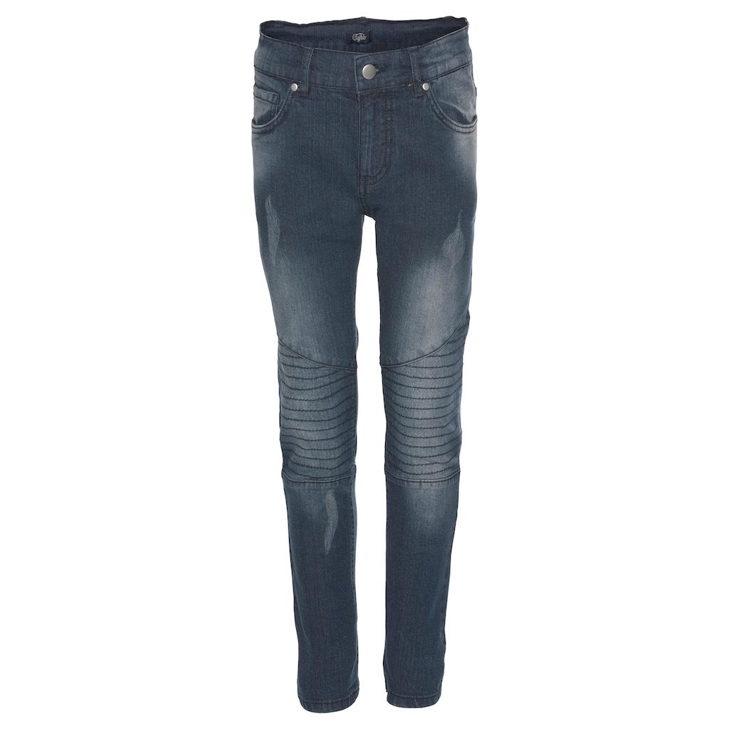 Buffalo Stretch-Jeans, mit schmalem Bein und Knieeinsatz