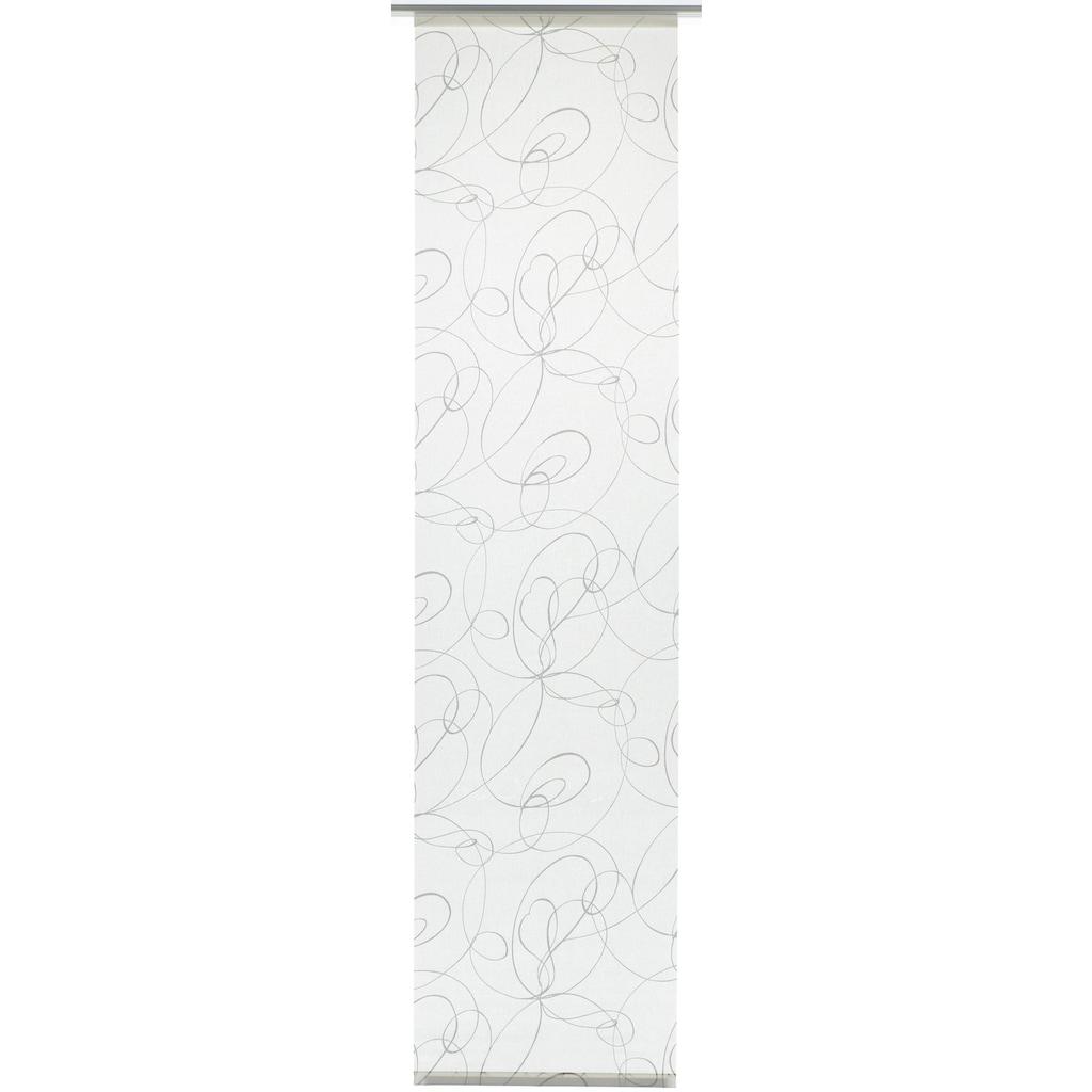 GARDINIA Schiebegardine »Flächenvorhang Stoff Curling mit weißen Paneelwagen«, HxB: 245x60