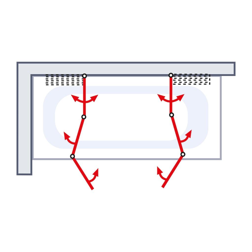 Schulte Badewannenaufsatz »6-tlg.«, nach Gebrauch flach an die Wand klappbar
