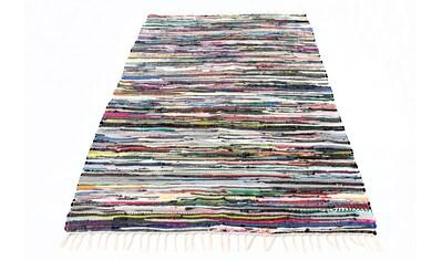morgenland Wollteppich »Kelim Teppich Levi«, rechteckig, 6 mm Höhe, reine Baumwolle kaufen