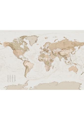 Komar Fototapete »Earth Map«, bedruckt-Retro-tarnfarben kaufen