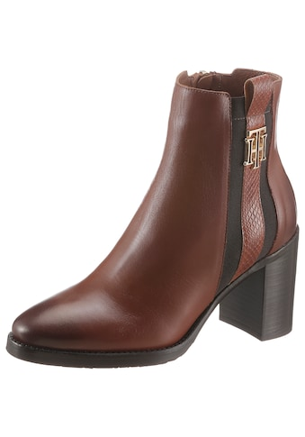 TOMMY HILFIGER High - Heel - Stiefelette »TH INTERLOCK HIGH HEEL BOOT« kaufen