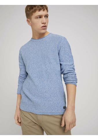 TOM TAILOR Denim Strickpullover »Pullover mit Raglanärmeln« kaufen