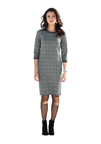 Amy Vermont Jerseykleid mit Glencheckmuster und Strickbündchen kaufen
