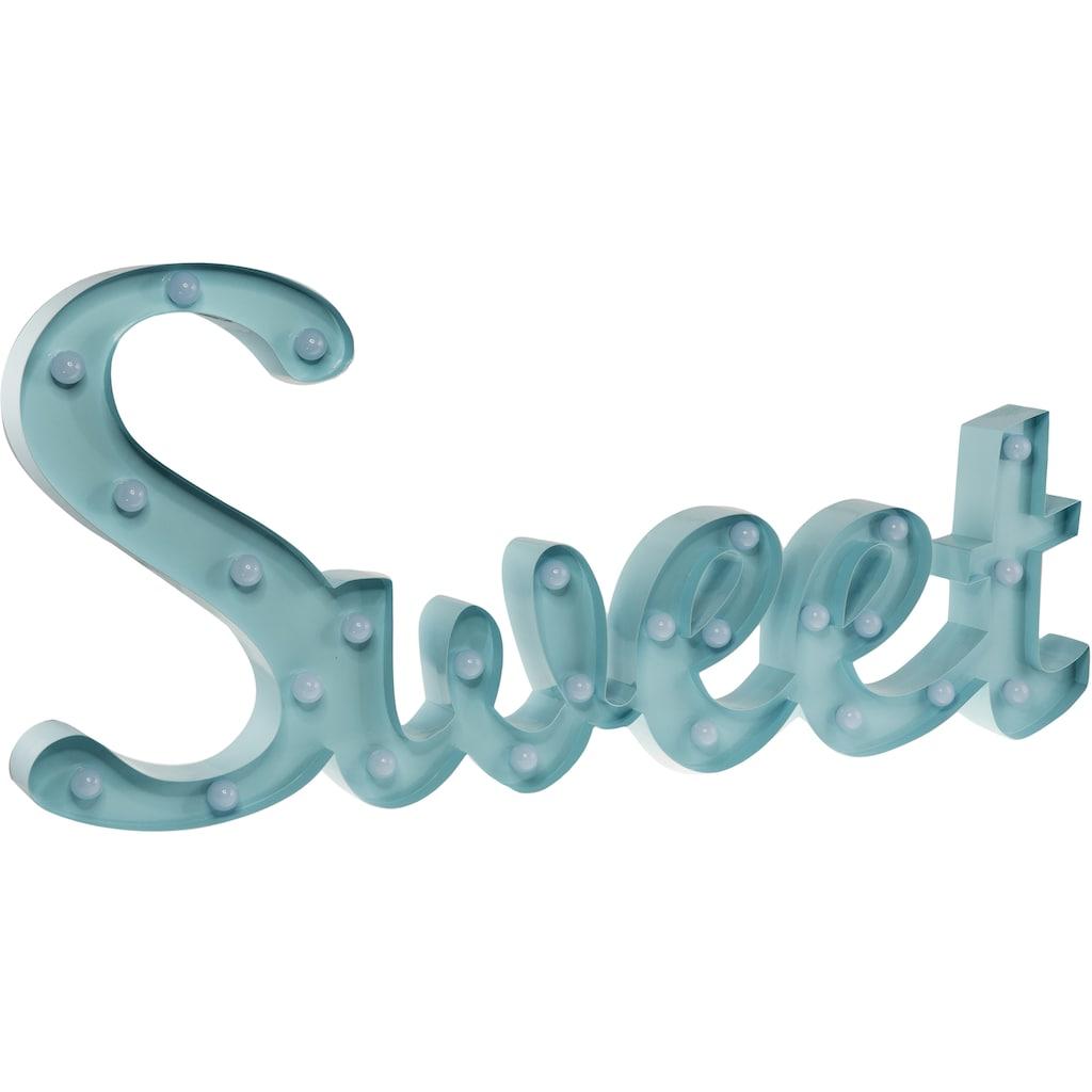 MARQUEE LIGHTS LED Dekolicht »Sweet Schriftzug«, 1 St., Warmweiß, Wandlampe, Tischlampe Sweet mit 26 festverbauten LEDs - 57cm Breit und 31cm hoch