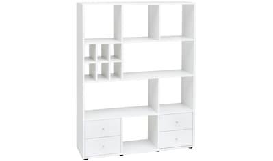 Wilmes Raumteilerregal, Breite 104 cm, mit 4 Schubladen und 13 Fächern kaufen