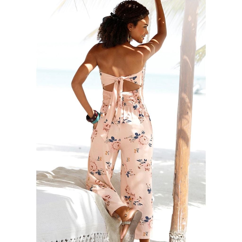 s.Oliver Beachwear Strandoverall, mit Bändern im Rücken