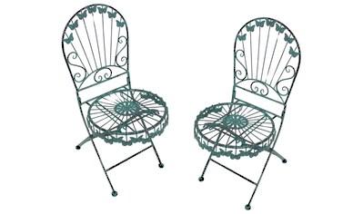 Garden Pleasure Klappstuhl »Deko-Stuhl mit Schmetterlingsmotiv«, 2er Set kaufen