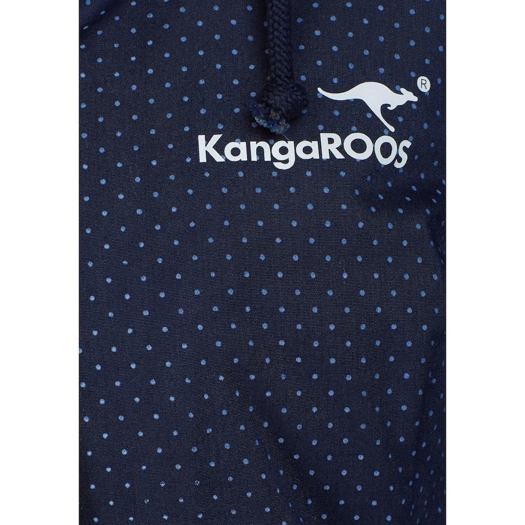 KangaROOS Funktionsparka, im modischen Pünktchen-Print