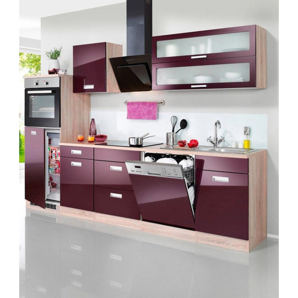 HELD MÖBEL Küchenzeile »Fulda«, mit E-Geräten, Breite 280 cm