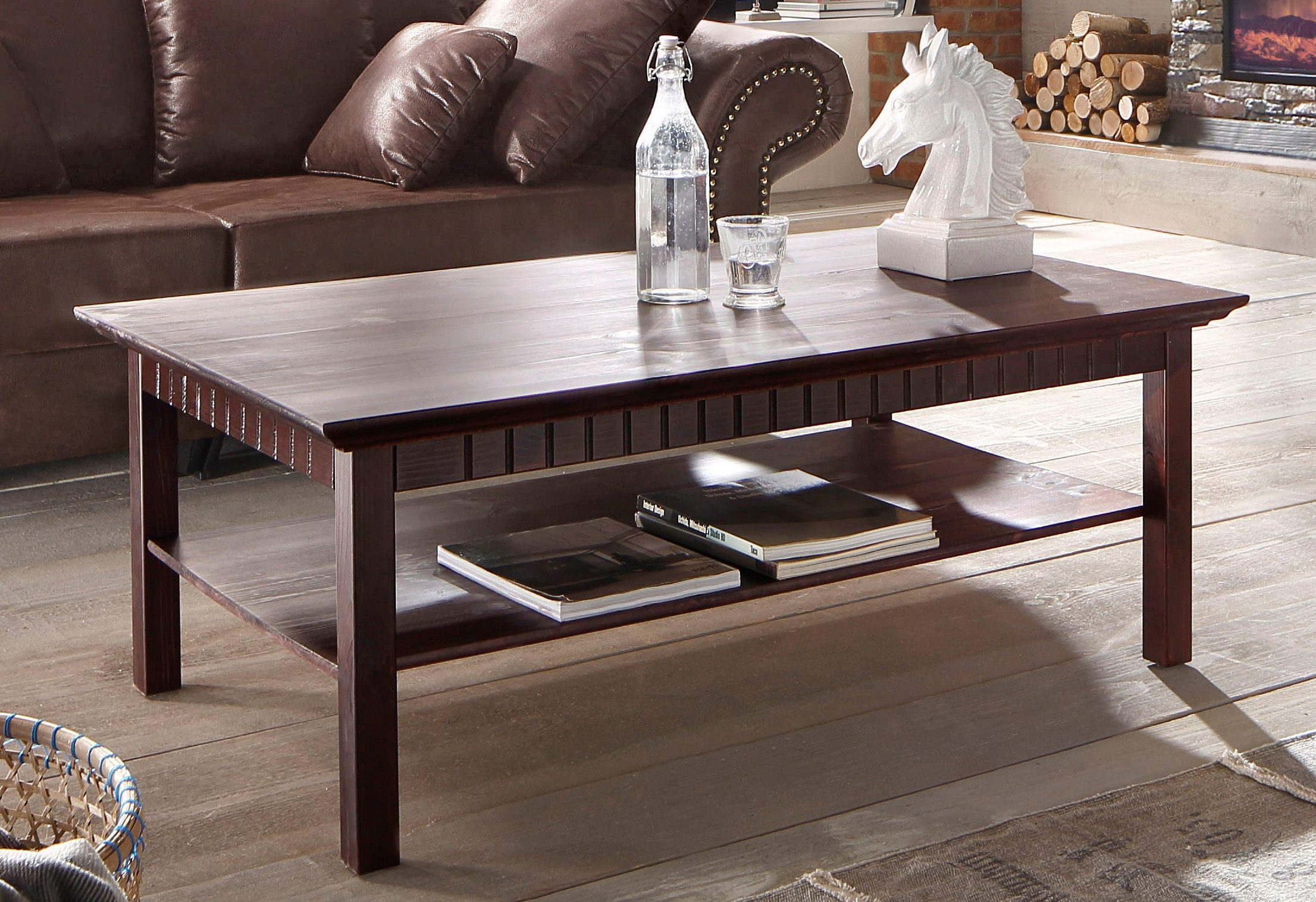 Home affaire Couchtisch | Wohnzimmer > Tische > Couchtische | Braun | Geölt - Gebeizt | Home Affaire