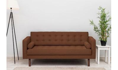 GEPADE 2-Sitzer, Breite 160 cm, inkl. 2 Kissenrollen, mit wengefarbenen Holzfüßen kaufen