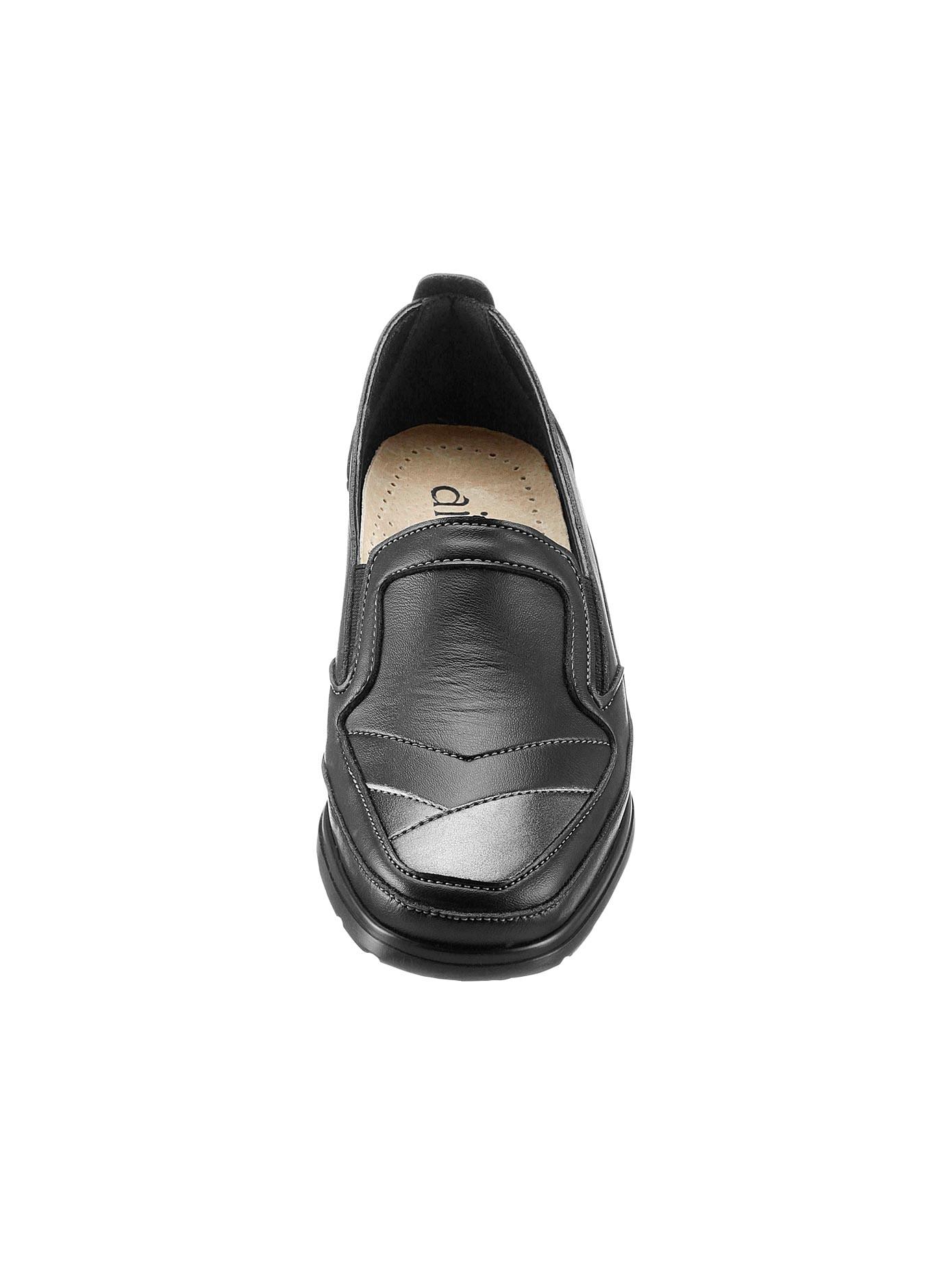 Airsoft Slipper mit Leder-Wechselfußbett   Schuhe > Slipper   Schwarz   Leder   Airsoft