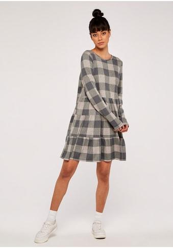 Apricot Karokleid »Check Print Cozy Tiered Dress«, mit Stufenfalten kaufen