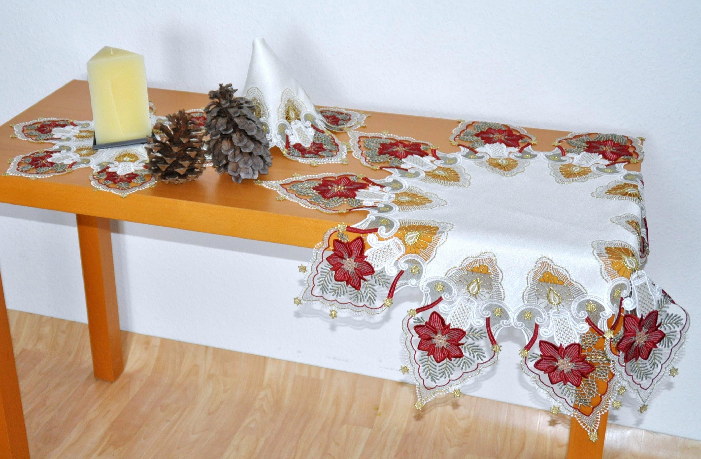 Tischdecke Kerzenschein Stickereien Plauen