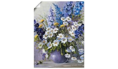 Artland Wandbild »Rittersporn«, Blumen, (1 St.), in vielen Größen & Produktarten -Leinwandbild, Poster, Wandaufkleber / Wandtattoo auch für Badezimmer geeignet kaufen