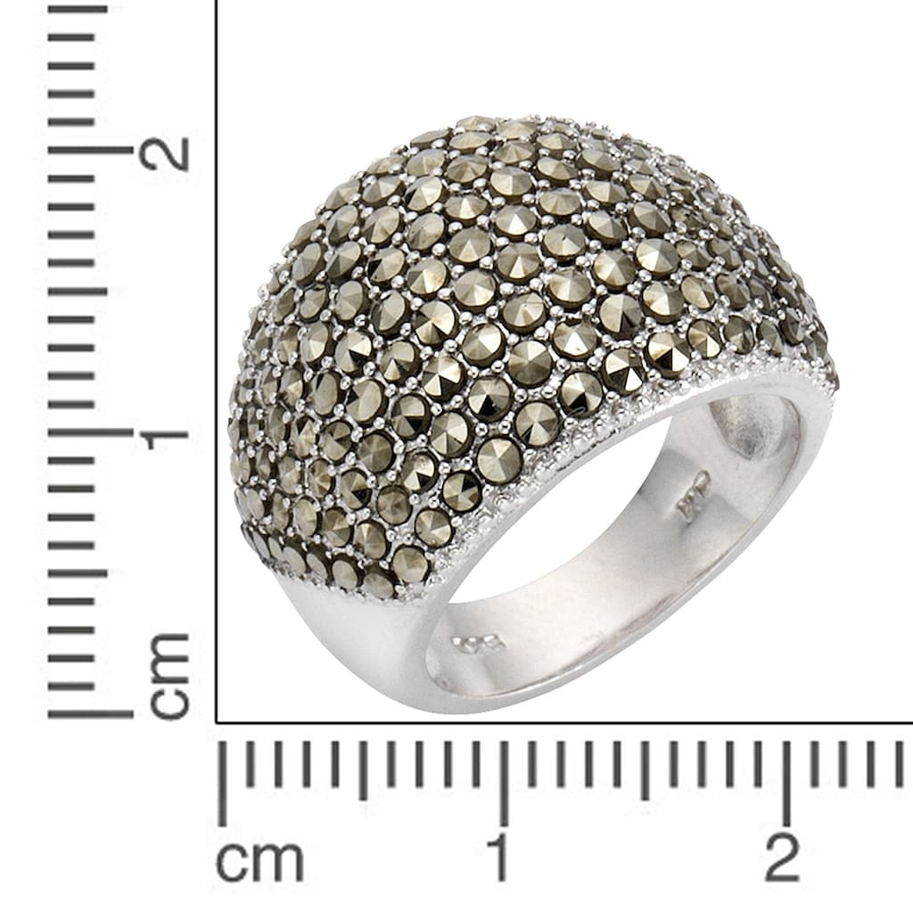 Zeeme Fingerring »925/- Sterling Silber Markasit«, Ring