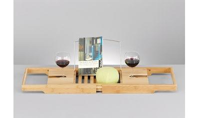 Zeller Present Badewannenablage »Bamboo«, Bambus, mit Getränkehalterungen und... kaufen