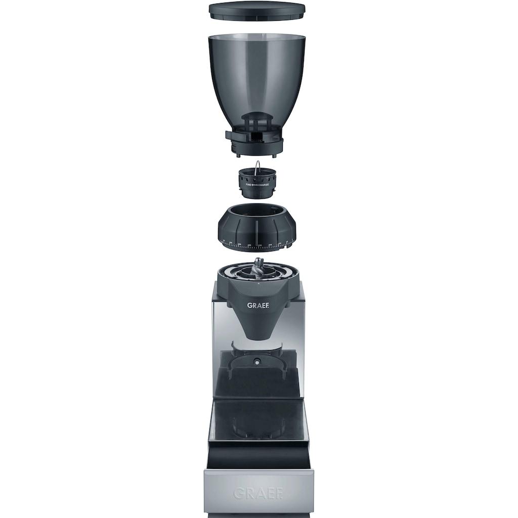 Graef Kaffeemühle »CM 850«, mit integrierter Ausklopfschublade, Edelstahl
