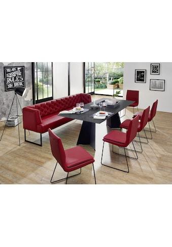 K+W Komfort & Wohnen Polsterbank »Creso«, im modernen Chesterfield-Look, mit schwarzen... kaufen