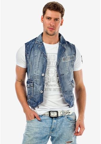 Cipo & Baxx Jeansweste, mit toller Waschung kaufen