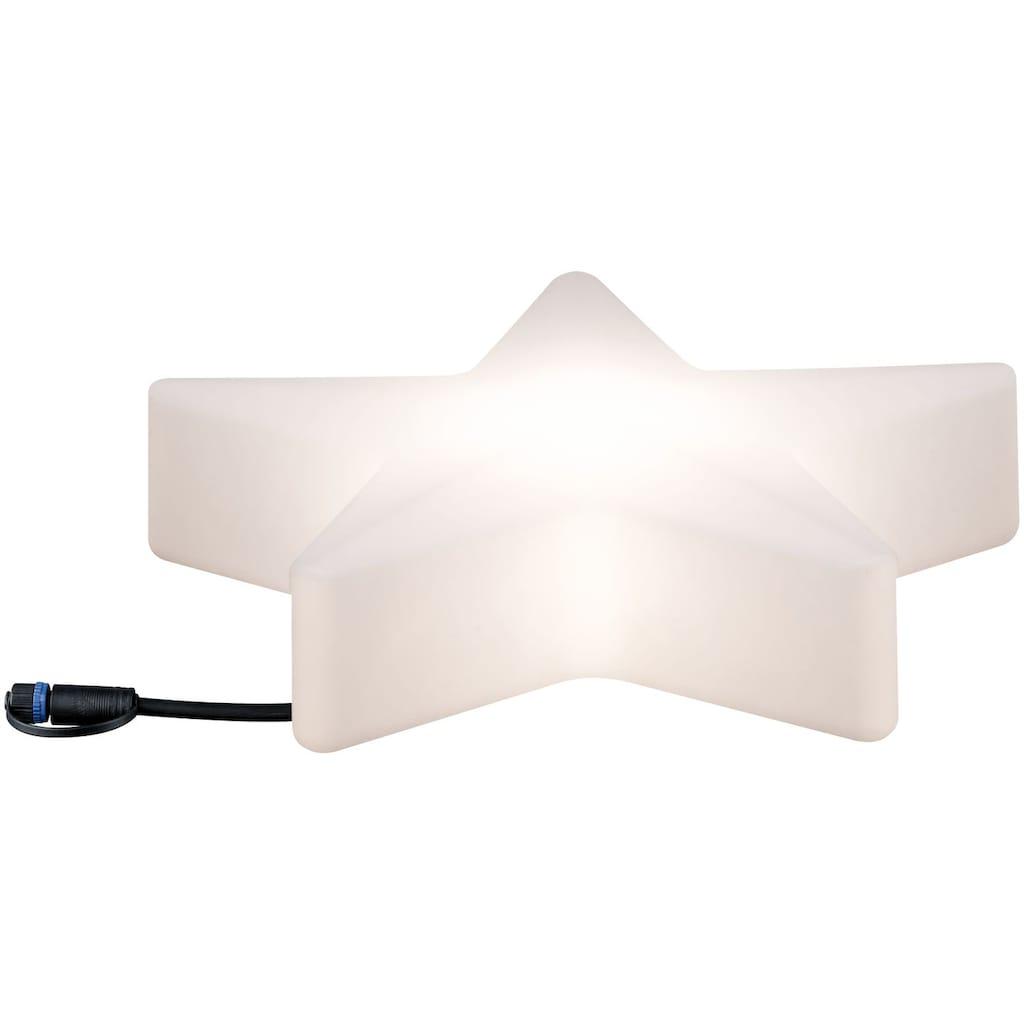 Paulmann LED Stern »Outdoor Plug & Shine Lichtobjekt Star«, 1 St., Warmweiß, IP67 3000K 24V