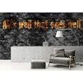 Architects Paper Fototapete »Atelier 47 Black Tiles«, Steinoptik-mit Schrift