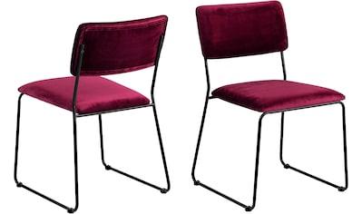 andas Esszimmerstuhl »Clara«, 2er Set, in verschiedenen Bezugsqualitäten und... kaufen