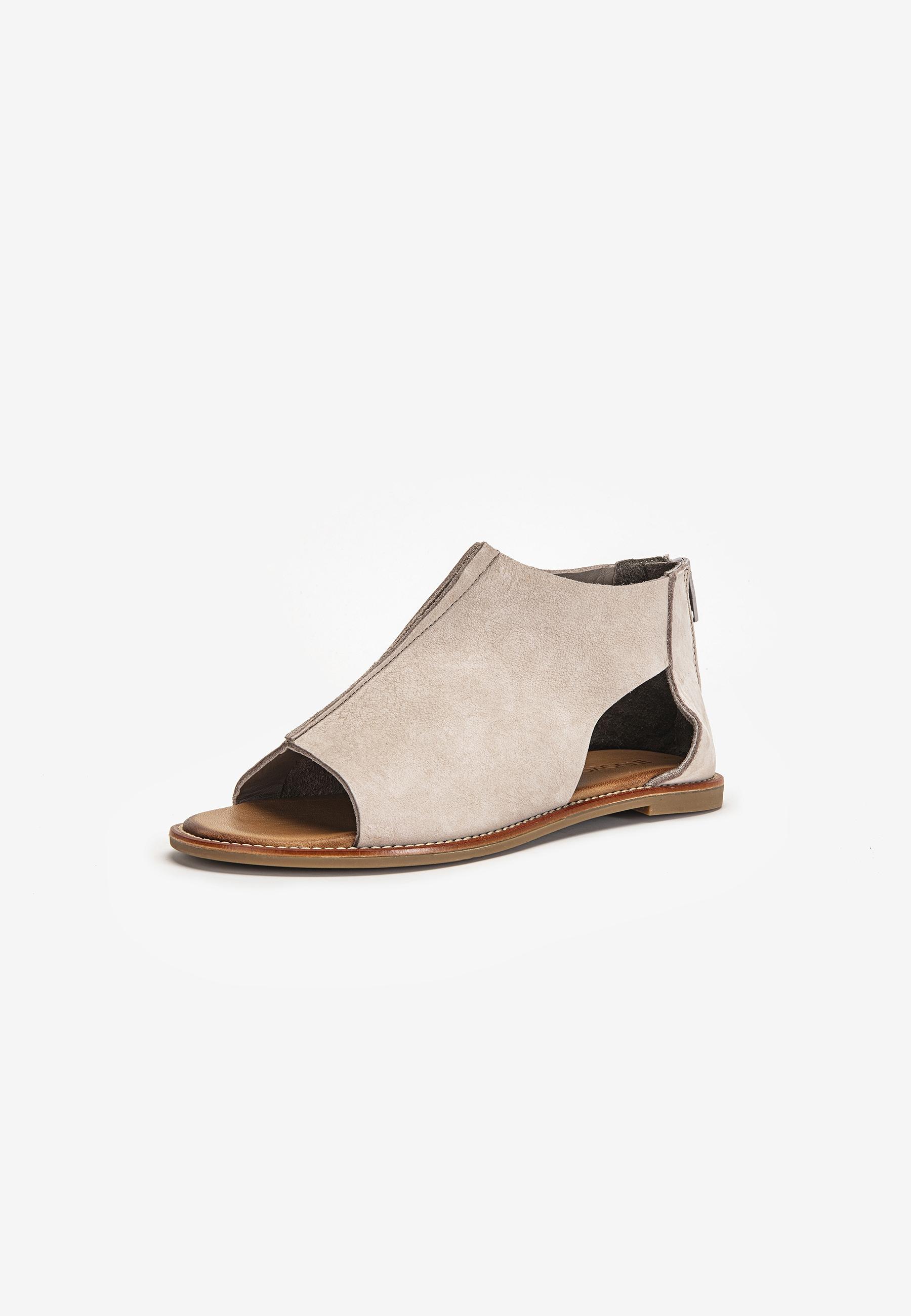 INUOVO Schaftsandalette Leder grau Damen Sandaletten Sandalen