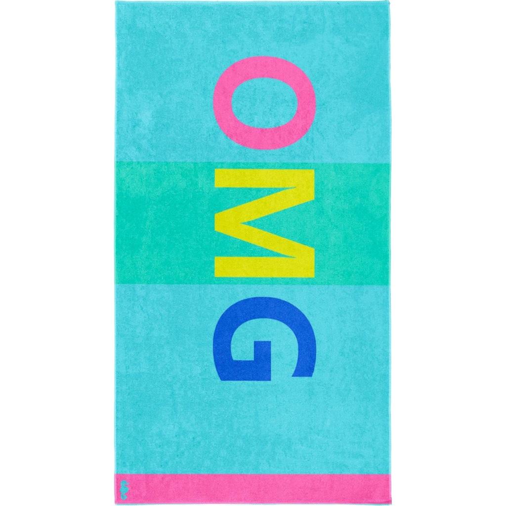 Seahorse Strandtuch »OMG«, (1 St.), mit Großbuchstaben