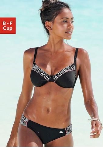 KangaROOS Bügel-Bikini, mit bedruckten Kontrasteinsätzen kaufen