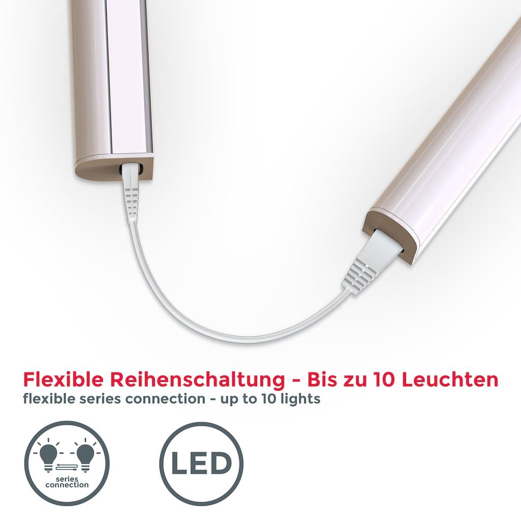 B.K.Licht LED Unterbauleuchte, LED-Board, Neutralweiß, LED Lichtleiste Küchenlampe Schrankbeleuchtung Stecksystem 15W 1.200 Lumen 4.000K weiß 87cm