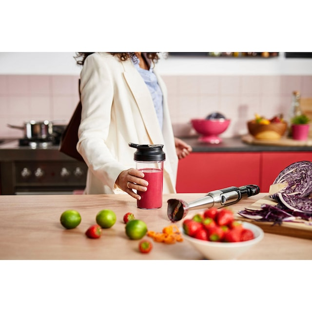 800W, SpeedTouch, inkl. 2-in-1 Togo Trinkflasc Philips Stabmixer Viva HR2650//90