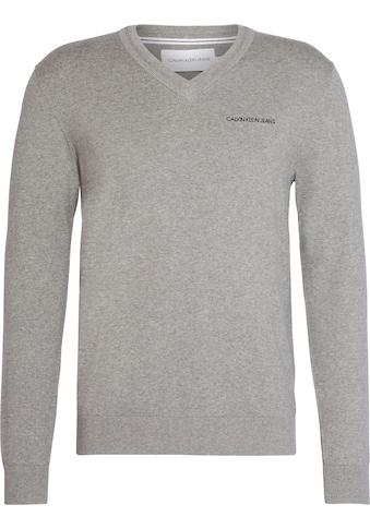 Calvin Klein Jeans Strickpullover »ESSENTIAL V NECK SWEATER« kaufen