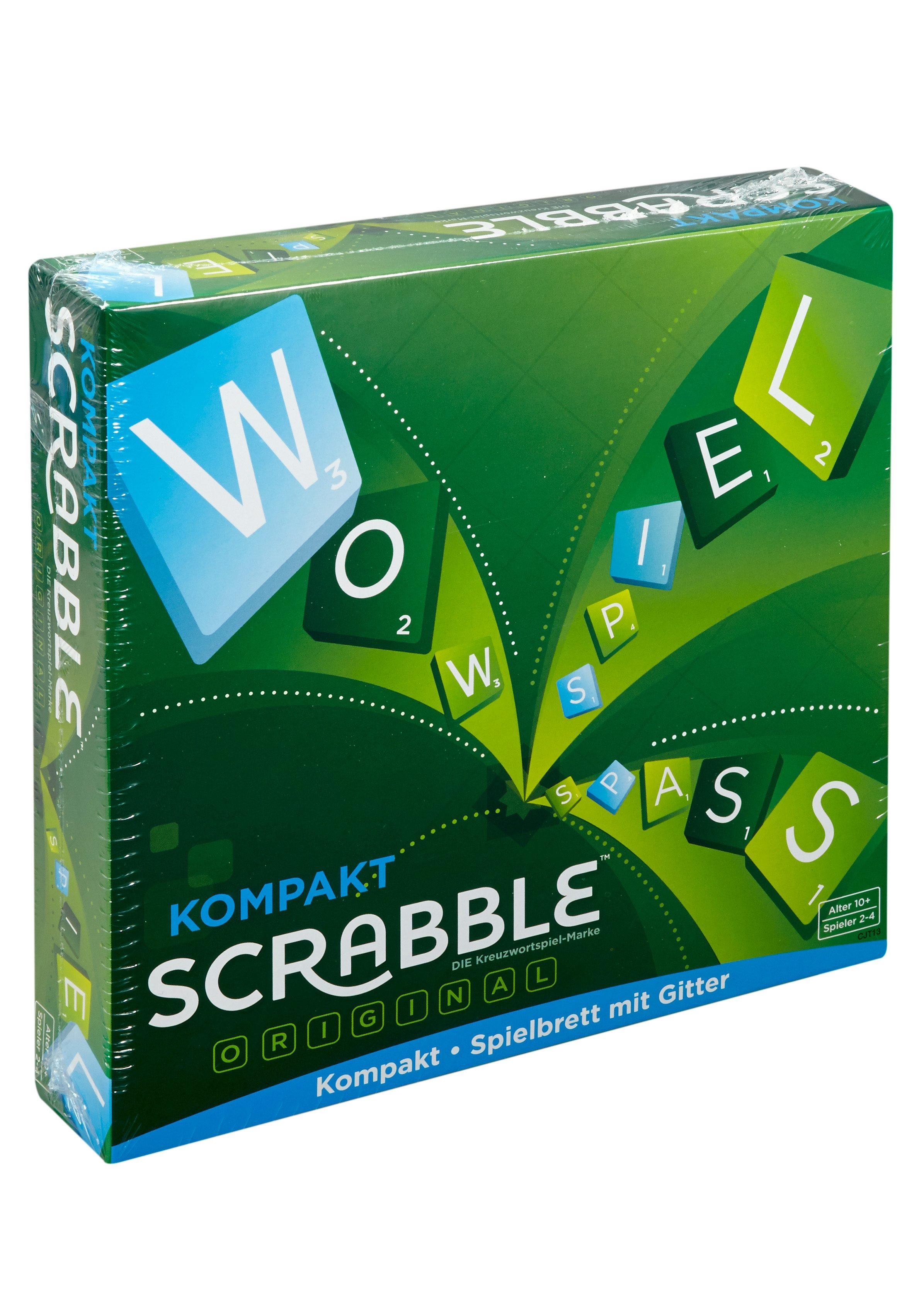 Mattel Spiel, Gesellschaftsspiel - Scrabble Kompakt bunt Kinder Denkspiele Gesellschaftsspiele Spiele