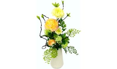 I.GE.A. Kunstblume »Arrangement Ranunkel«, Vase aus Keramik kaufen