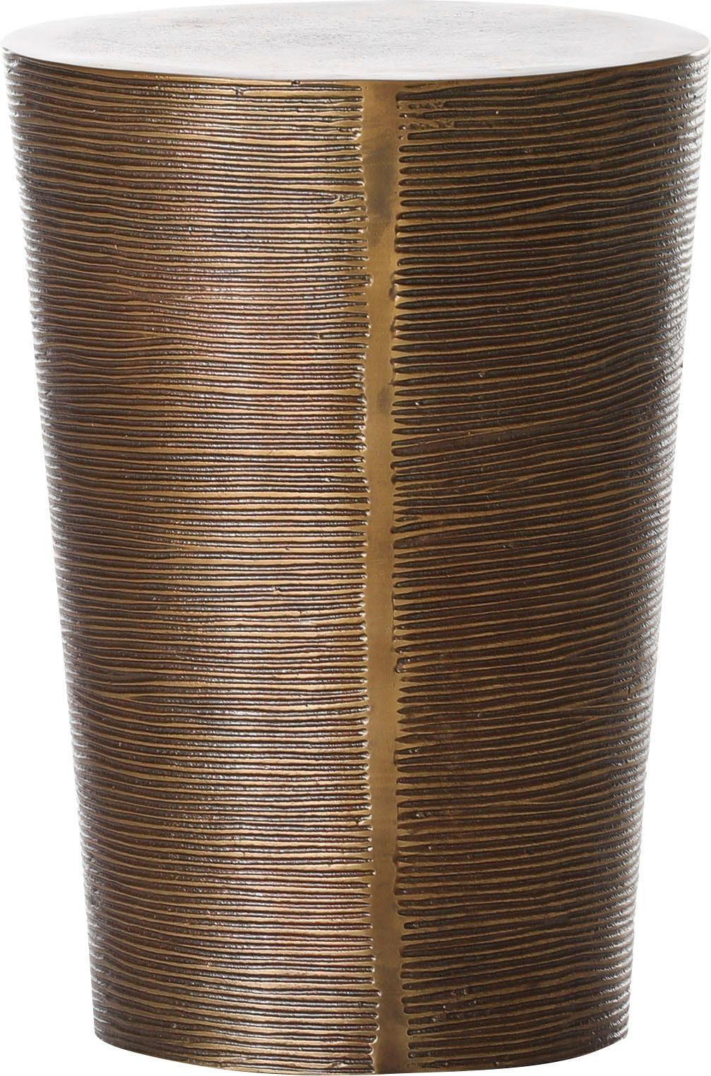 Gutmann Factory Beistelltisch 65762, mit dekorativen Fräsungen goldfarben Beistelltische Tische