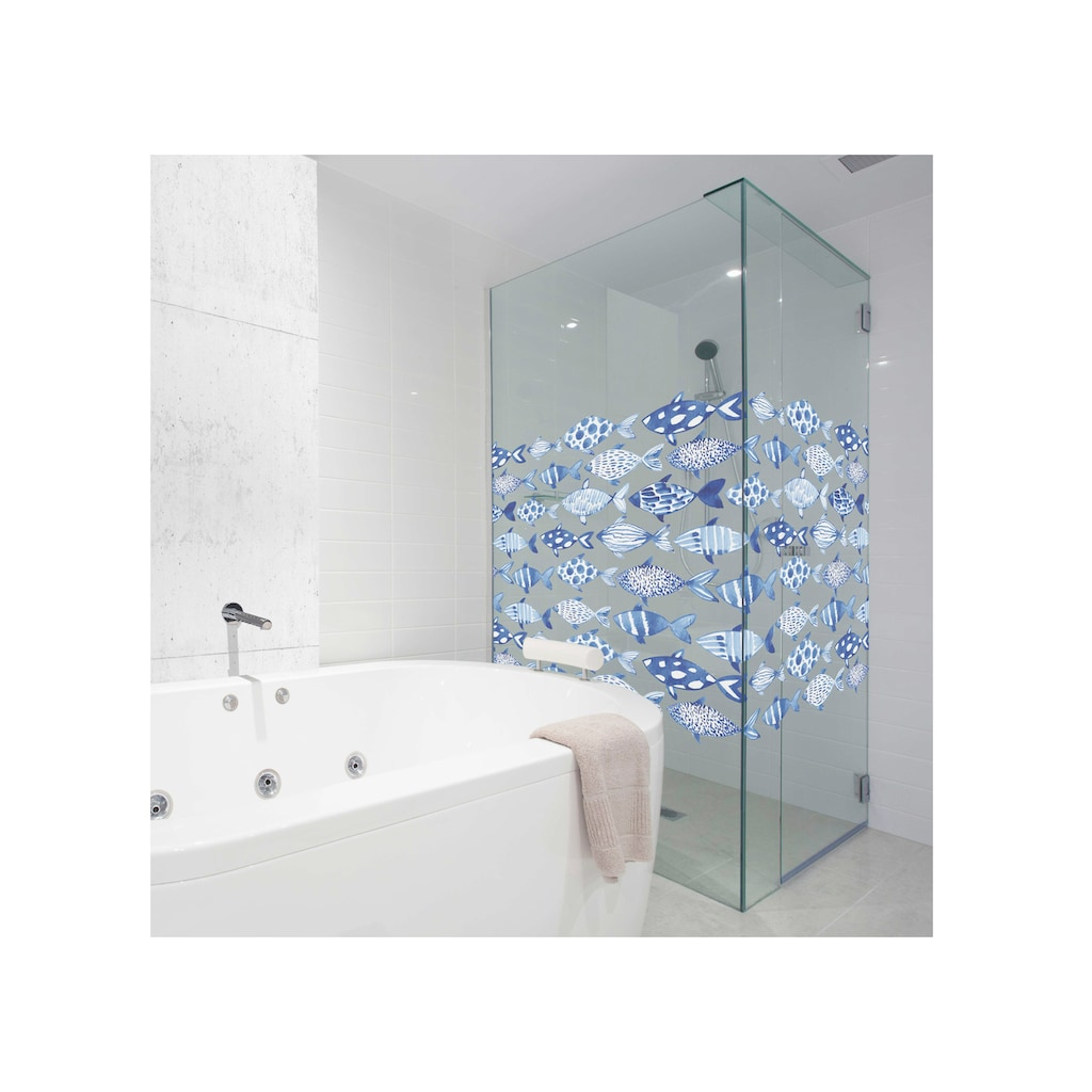 MySpotti Fensterfolie »Look Shoal«, halbtransparent, glattstatisch haftend, 90 x 100 cm, statisch haftend